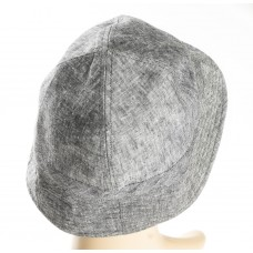 Gray and White Silk + Polyester blend hat