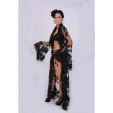 Black Leather Lace Sequiens Swing