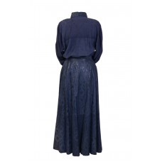 2pc Blue Suede Skirt