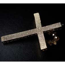 All Gold Cross with Topaz Swarovski Crystals Napkin Holder