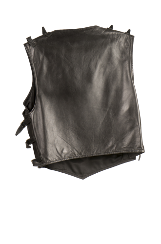 Vest with buckles on the side