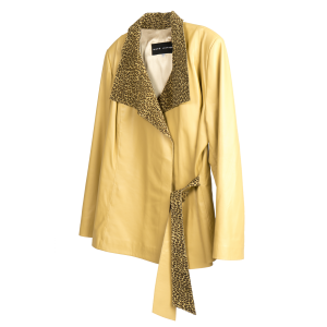Yellow Leopard Skin Jacket