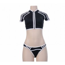 Black and White 3 piece Swimsuit