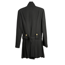 Black Gold Button Coat